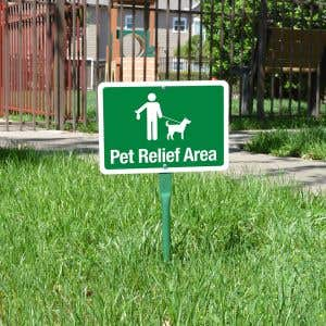 """Yard Sign 18"""" Kit - Pet Relief Area"""