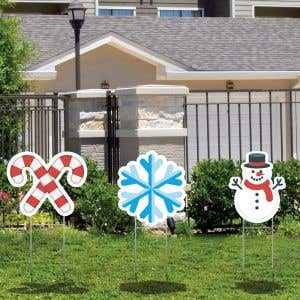 Lawn Letters - Winter Icons