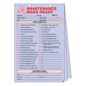 Maintenance Make Ready Form