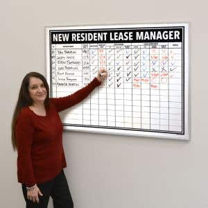 New Resident Lease Manager Board - 4' x 3