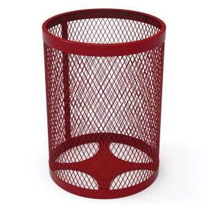 Budget Expanded Metal Trash Can - 32 Gallon