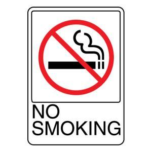 Interior Sign-No Smoking Plastic Sign