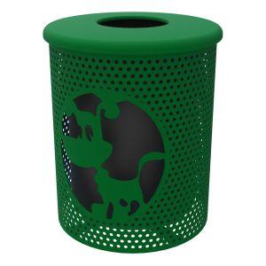 Steel Dog Park Trash Can - 32 Gallon