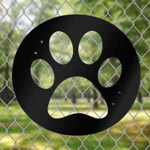 Dog Park Fence Art - Paw Print
