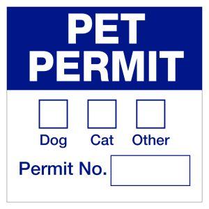 Magnetic Pet Permit