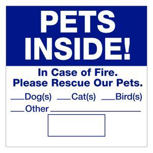 Magnetic Pet Permit - Pets Inside
