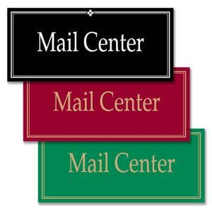 """Interior Signs - """"Mail Center"""""""