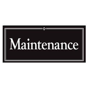 "Interior Signs - ""Maintenance"" Plastic"