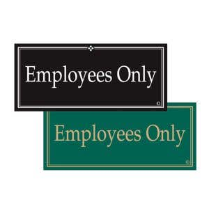Interior Signs -Employees Only Plastic