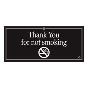 """Interior Signs - """"Thank You for Not Smoking"""" Plastic"""