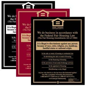 Fair Housing Signs - Wall Mount