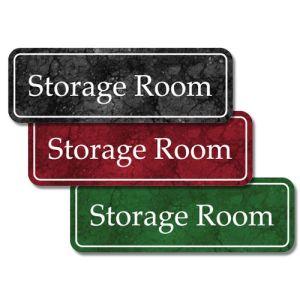 Interior Sign-Storage Room Plastic Sign-Marble