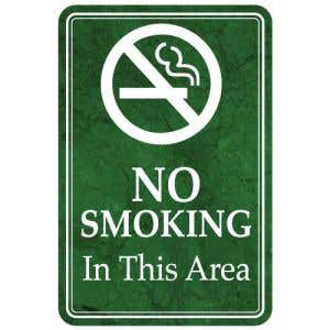 Green No Smoking Marble Designer Interior Sign