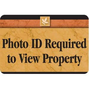 Photo ID Required Designer Interior Sign Sedona Design