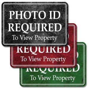 Interior Sign-Photo ID Required Desktop Plastic Sign-Marble