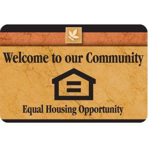 Equal Housing Designer Interior Sign Sedona Design