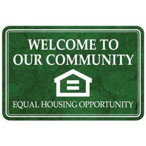 Interior Sign-Welcome to our Community Equal Housing Opportunity Plastic Sign-Marble
