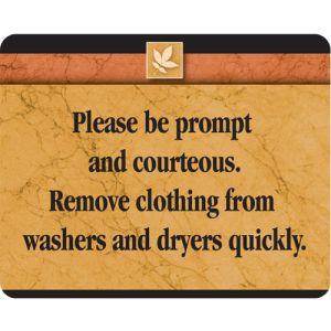 Please Be Courteous Interior Sign Sedona Design