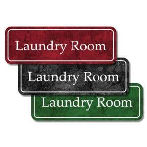 """Laundry Room Signs - """"Laundry Room"""" Plastic"""