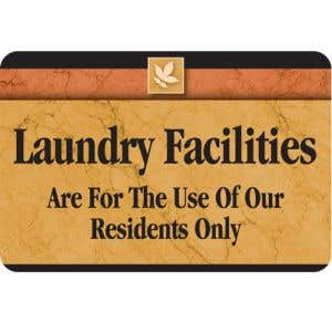 Laundry Facilities Interior Sign