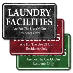 "Interior Signs - ""Laundry Facilities"" Plastic"