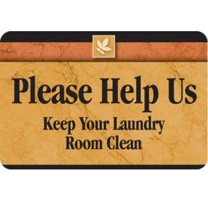 Laundry Room Sign -Keep your laundry room clean-Sedona