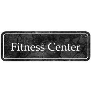 "Interior Signs - ""Fitness Center"" Plastic"