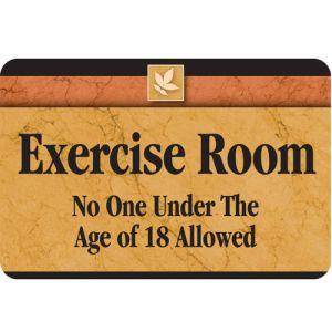Exercise Room Interior Sign Sedona Design