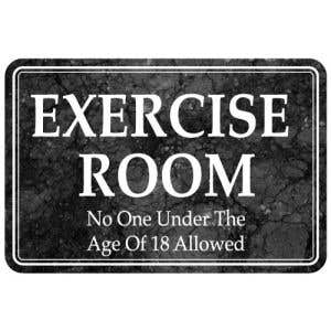 Exercise Room Interior Sign Marble Design
