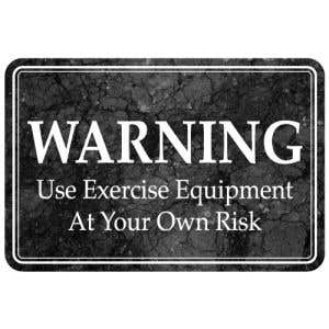 Exercise at your own Risk Interior Sign Marble Design