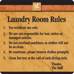 Laundry Room Rules Interior Sign Sedona Design