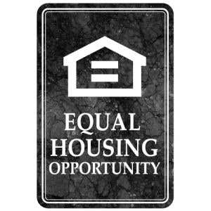 Interior Sign-Equal Housing Opportunity Plastic Sign-Marble