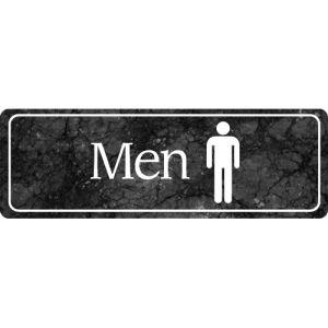 Interior Sign-Men's Restroom Plastic Sign-Marble