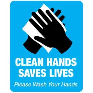 Clean Hands Save Lives Office Sign