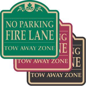 "Fire Lane Signs - ""No Parking Fire Lane"" Dome"