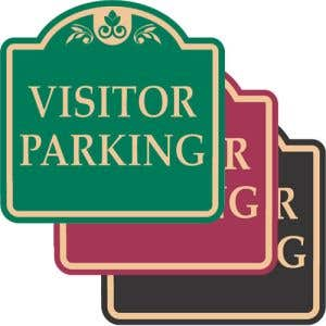 """Visitor Parking Signs - """"Visitor Parking"""" Dome"""