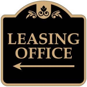 """Directional Signs - """"Leasing"""" Left Arrow - Dome"""