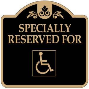 """Handicap Parking Signs - """"Reserved"""" Dome"""