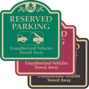 """Resident Parking Signs - """"Reserved Parking"""" Dome"""