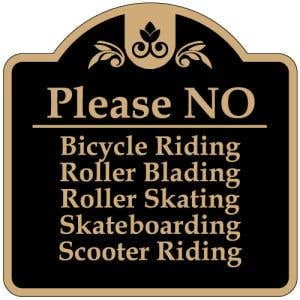 """Property Rules Signs - """"No Bicycle Riding"""" Dome"""