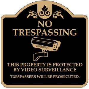"""No Trespassing Signs - """"No Trespassing"""" Dome"""