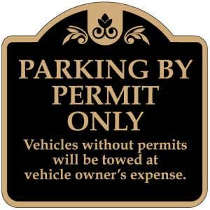 """Resident Parking Signs - """"Permit Only"""" Dome"""