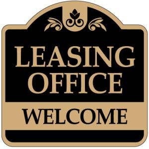 """Directional Signs - """"Leasing Office"""" Dome"""