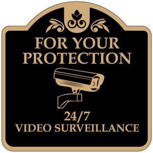 "No Trespassing Signs - ""24 7 Surveillance"" Dome"
