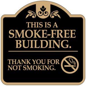 """No Smoking Signs - """"Smoke Free Building"""" Dome"""