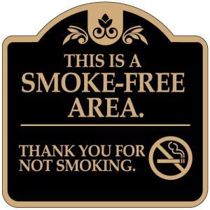 "No Smoking Signs - ""Smoke Free Area"" Dome"