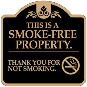 "No Smoking Signs - ""Smoke Free Property"" Dome"