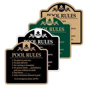 "Pool Signs - ""Pool Rules"""