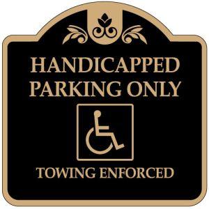 "Handicap Parking Signs - ""Handicapped"" Dome"