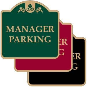 """Parking Signs - """"Manager Parking"""" Dome"""
